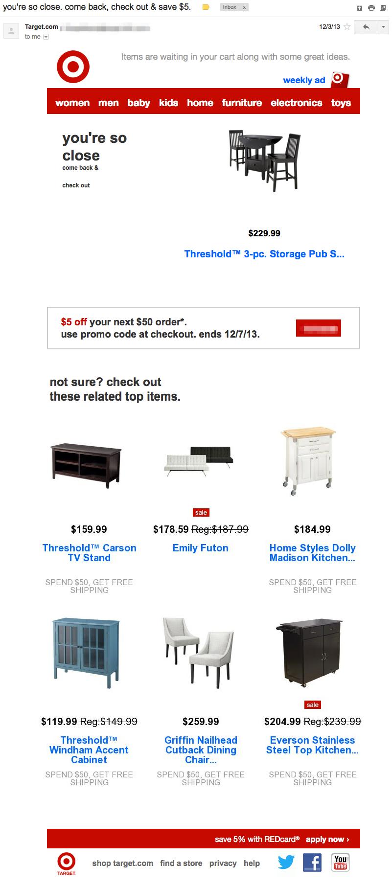 target-behavioral-email