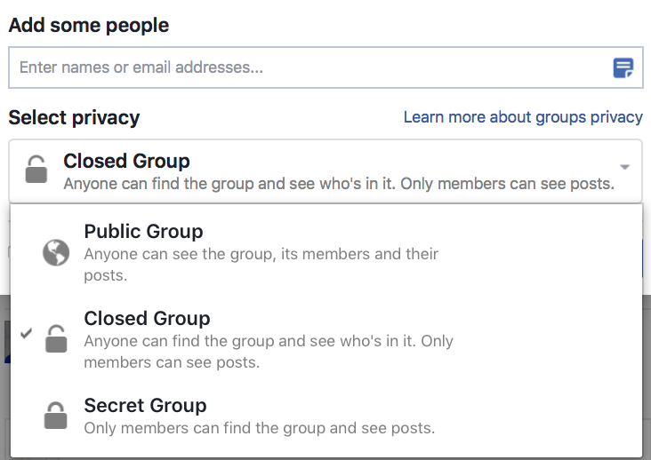 группы в фейсбук
