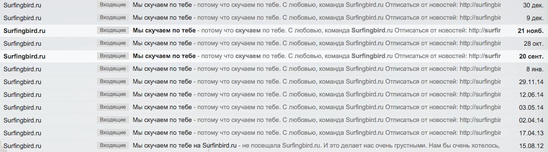 Surfingbird email